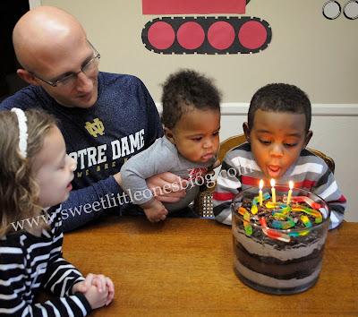 Mike Mulligan and His Steam Shovel Birthday Party + Dirt Pudding Trifle Dessert Recipe - www.sweetlittleonesblog.com
