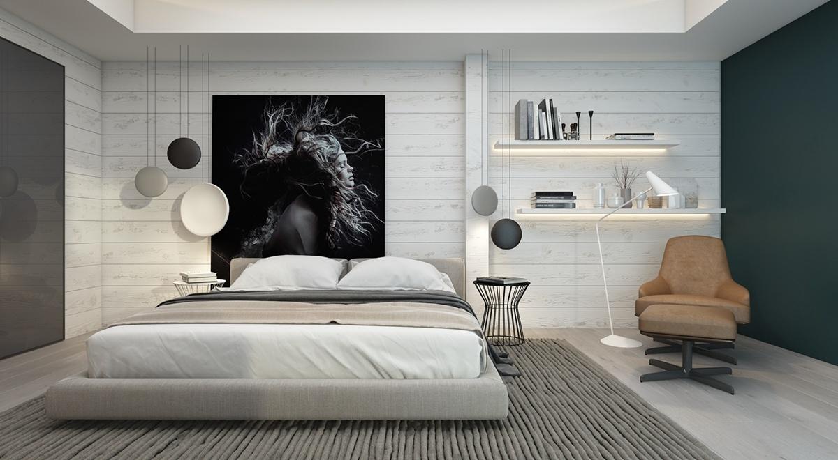 Сім спалень з акцентом на стіни