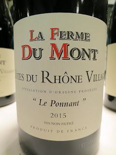 La Ferme Du Mont Le Ponnant Côtes du Rhône Villages 2015 (89+ pts)