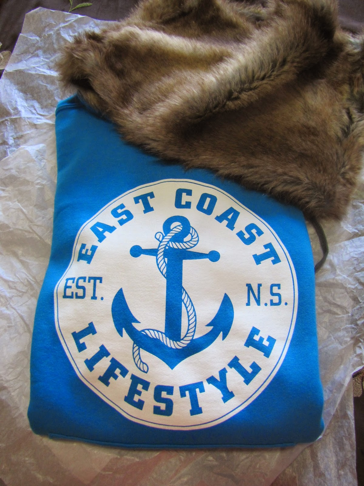 East Coast Lifestyles hoodie and furry snood!