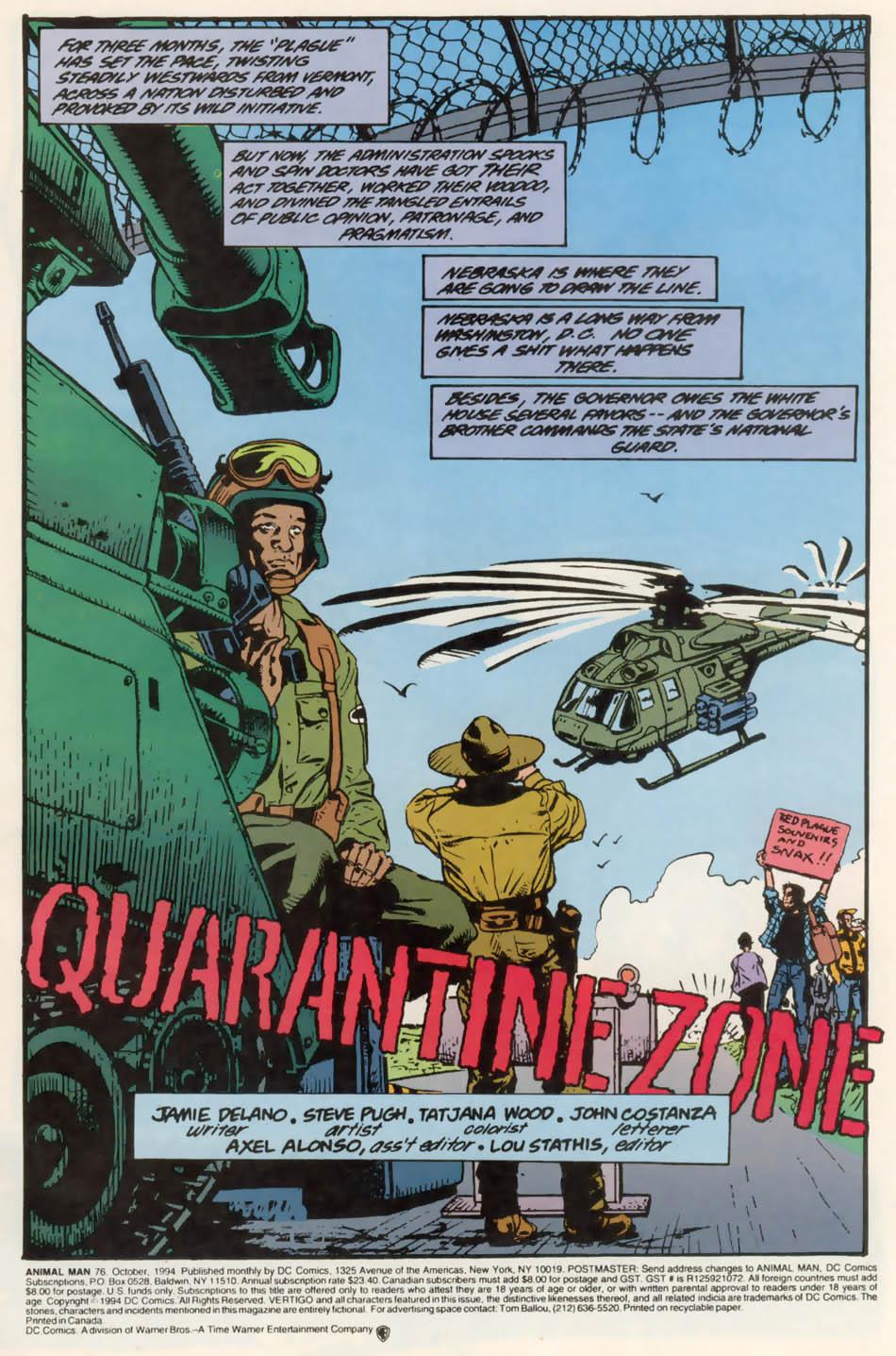Read online Animal Man (1988) comic -  Issue #76 - 2