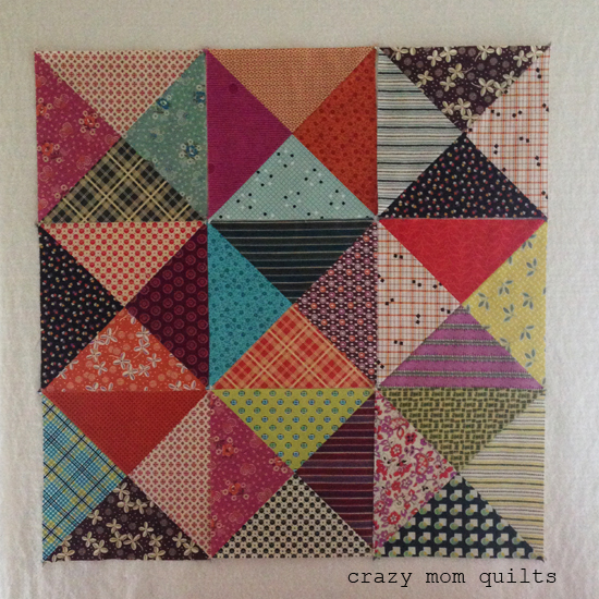 Quilt Patterns Quarter Square Triangles : crazy mom quilts: the beginning of an epic quilt