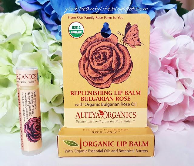 replenishing lip balm bulgarian rose alteya organics