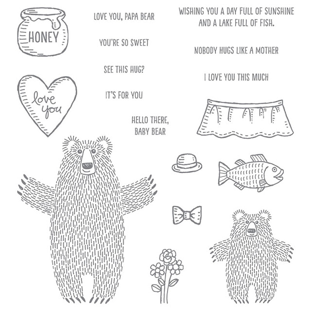 Bear Hugs Stamp Set, Bear Hugs Framelits Dies, Stampin' Up!