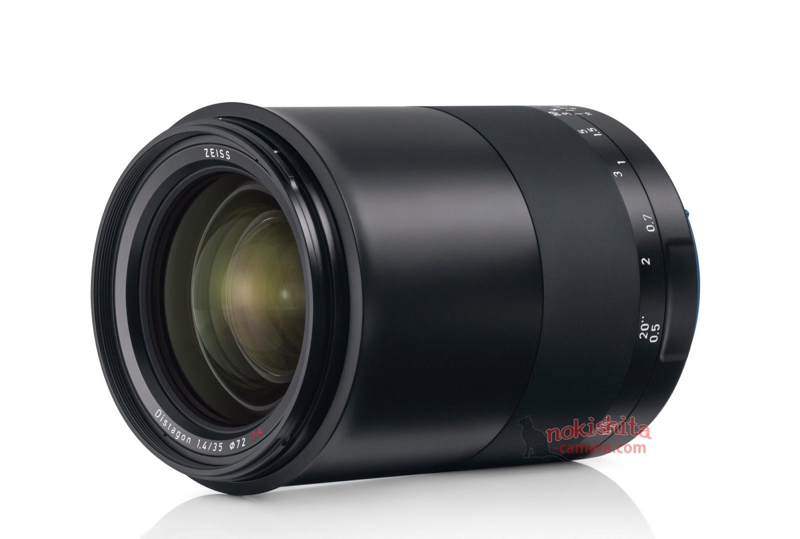 Zeiss Milvus 35mm f/1.4, вид спереди