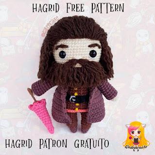 PATRON GRATIS RUBEUS HAGRID | HARRY POTTE AMIGURUMI 38507
