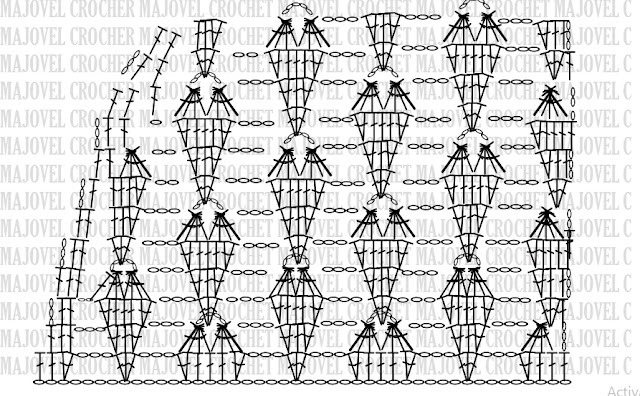 Crochet PATRON DEL ESCOTEBlusa de corazones muy fácil y sencilla. MAJOVEL CROCHET