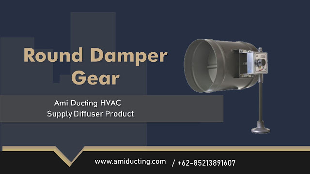 Round Damper Gear Aksesoris Ducting