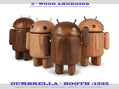 "San Diego Comic-Con 2016 Exclusive Wood Android 5"" Figures by Andrew Bell!"