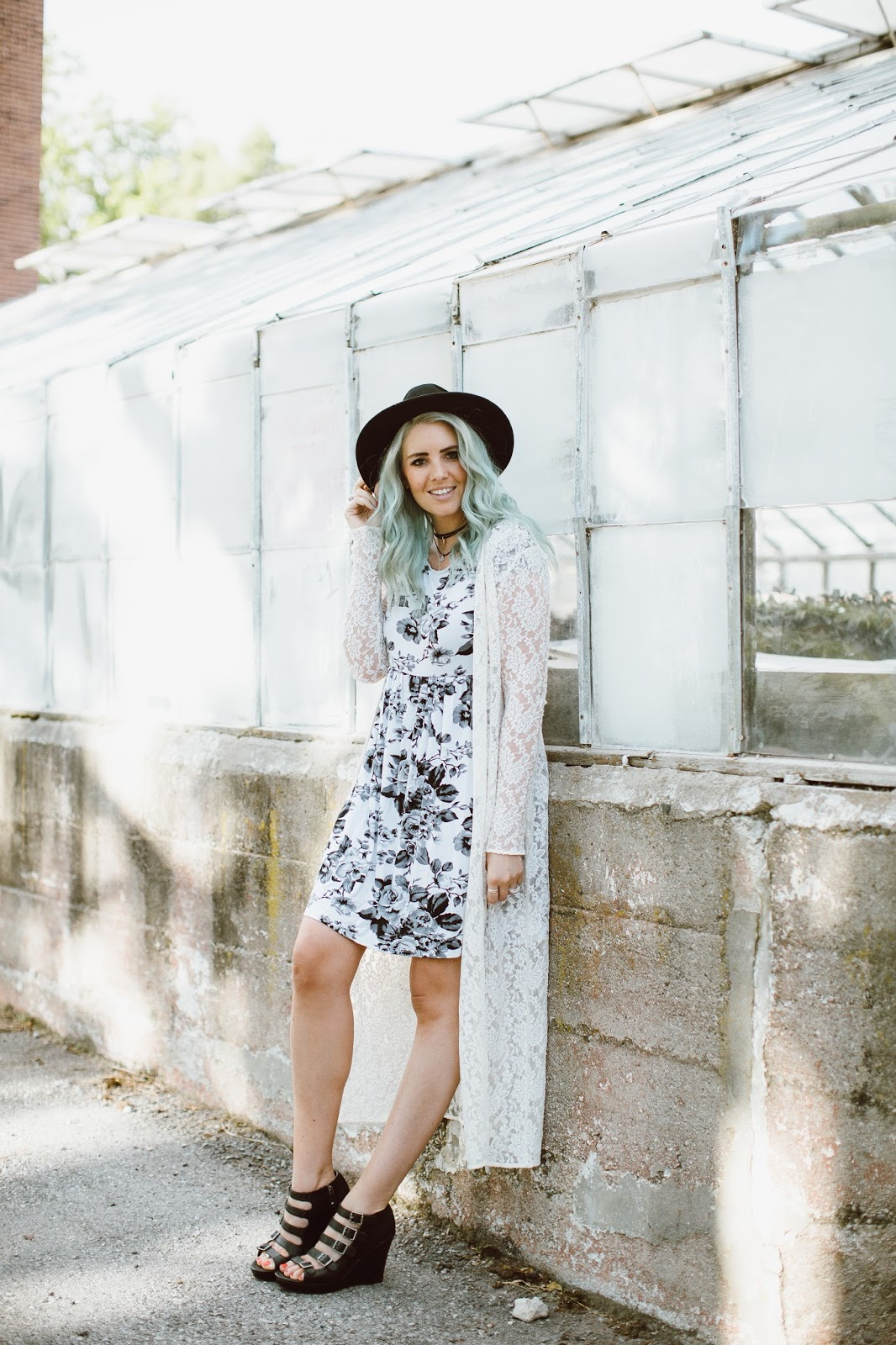 Lace Cardigan, Floral Dress, Spring Outfit