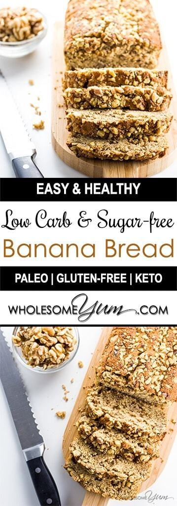 LOW CARB BANANA BREAD (PALEO, GLUTEN-FREE, SUGAR-FREE)