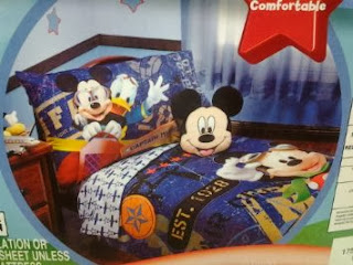 Disney Mickey Mouse 4pc Toddler Bedding Set