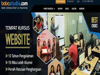 Tempat kursus website Baba Studio tidak hanya mengajarkan cara membuat website sendiri, tetapi anda akan dibimbing untuk belajar membuat website dari awal hingga ahir.