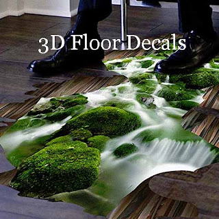 3D floor decals