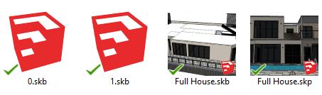 SketchUp 3D model arşivleri (.skb dosyaları)