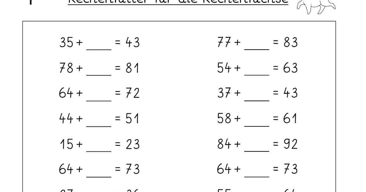 Lernstübchen: Platzhalteraufgaben im ZR bis 100