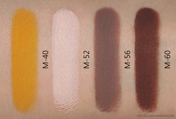 Make Up For Ever Aqua XL Color Paint M-40 M-52 M-56 M-60 Swatches