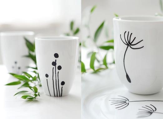 T cnicas y diy para personalizar tazas decoraci n - Como decorar una taza ...