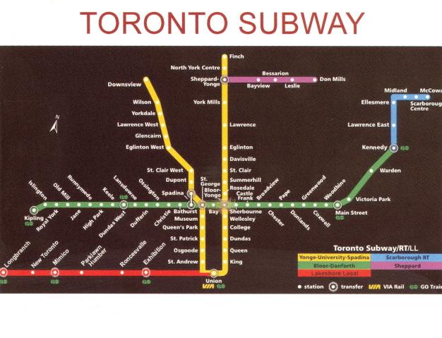 Subway Map Canada Toronto.My Favorite Views Canada Toronto Subway Map