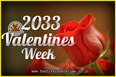 2033 Valentine Week List : 2033 Valentine Week Schedule, Hug Day, Kiss Day, Valentine's Day 2033