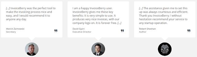 InvoiceBerry Testimonials