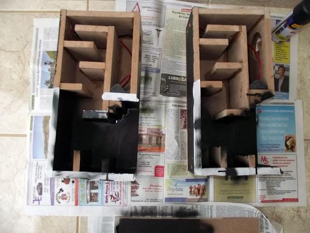 Pintura das caixas Makizou