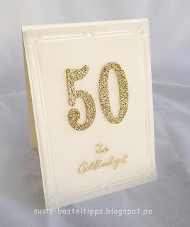 """Goldene Hochzeit stampin up karte mit Stempelset """"Wie ein Weihnachtslied"""" von Demonstratorin in Coburg"""