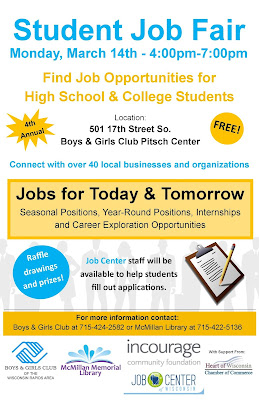 Job Fair Poster - Courtesy McMillan Memorial Library