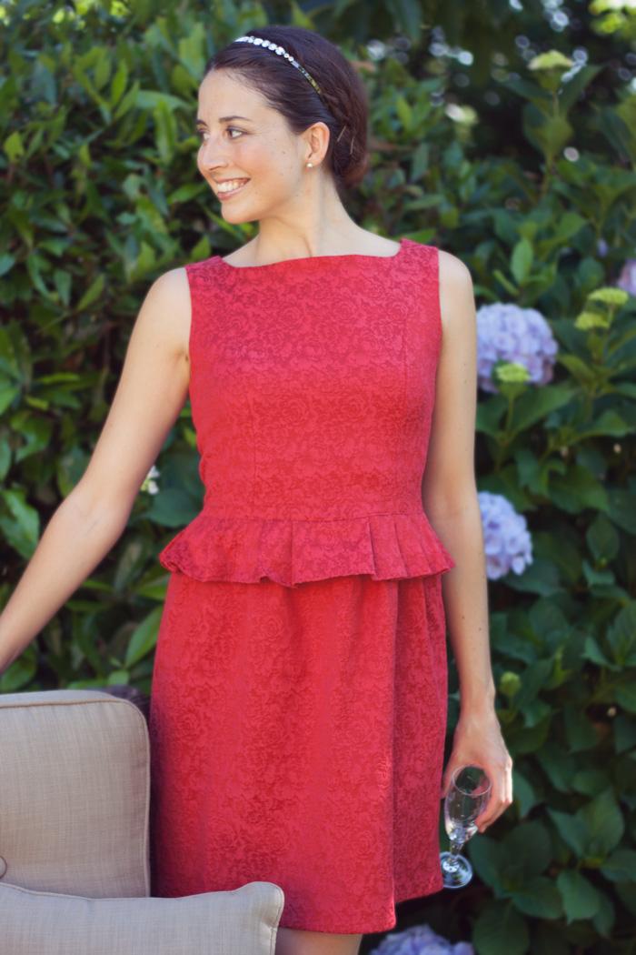 Invitada perfecta verano 2015. Vestido rojo. Vestido Indiana. La Böcöque. Ideal para evento verano, boda, fiesta, cena romántica