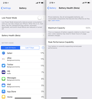 Apple Releases iOS 11.3 Beta 2 with new battery health features