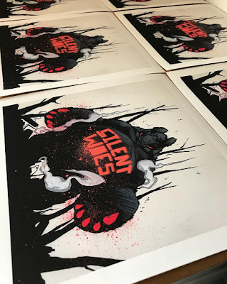 Designer Con 2017 Exclusive Nightmare Panda King 3 Hand Embellished Print by Woes Martin x Silent Stage Gallery
