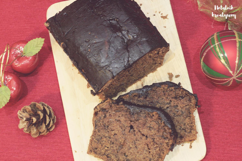 Ciasto piernikowe+ domowa, uniwersalna polewa czekoladowa