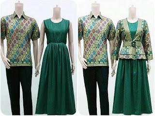 model baju batik couple gamis untuk keluarga