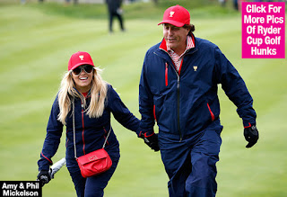 Amy Mickelson and Phil during the Ryder Cup challenge