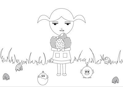 Les poupées Gwendoline: Coloriage de Pâques