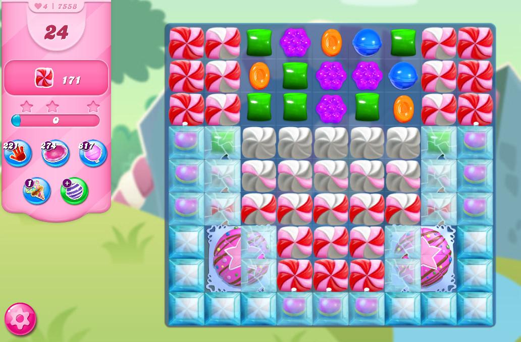 Candy Crush Saga level 7558