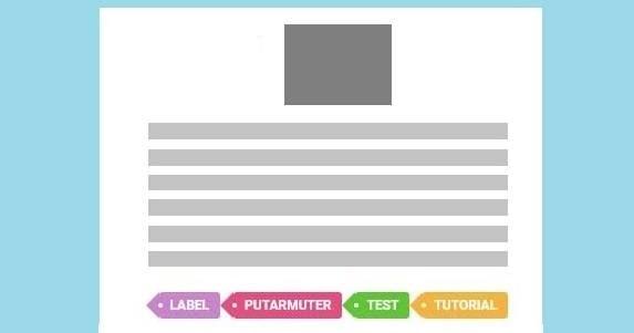 Memasang Hastag Label Berwarna di Bawah Postingan Blog