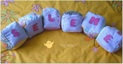 tutorial como hacer cubos de tela para bebes
