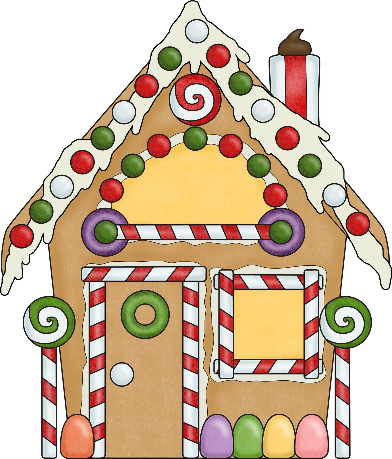 free gingerbread house clipart - photo #6