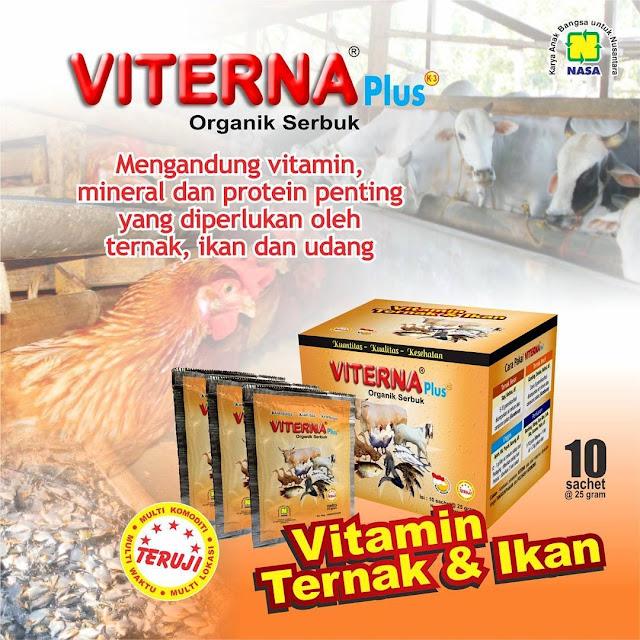 Vitamin Ternak Organik VITERNA Plus Serbuk | Vitamin Ternak Praktis dan Berkualitas Tinggi