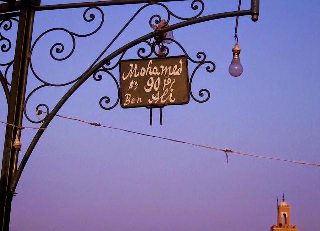 Tablica kuchni przenośnej. Jemaa el Fna Marrakesz