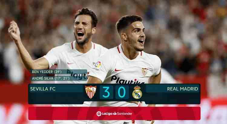 Hasil Sevilla vs Real Madrid Skor Akhir 3-0