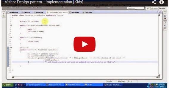Java ee visitor design pattern implementation kids for Object pool design pattern java example