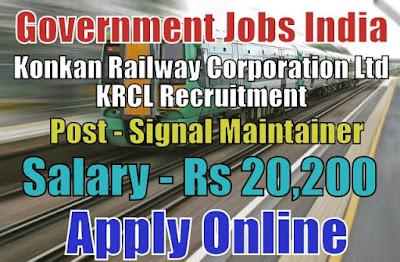 Konkan Railway Corporation Limited KRCL Recruitment 2018
