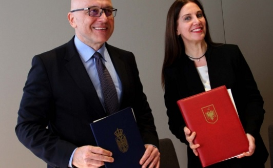 Albania signed the first agreement with Serbia