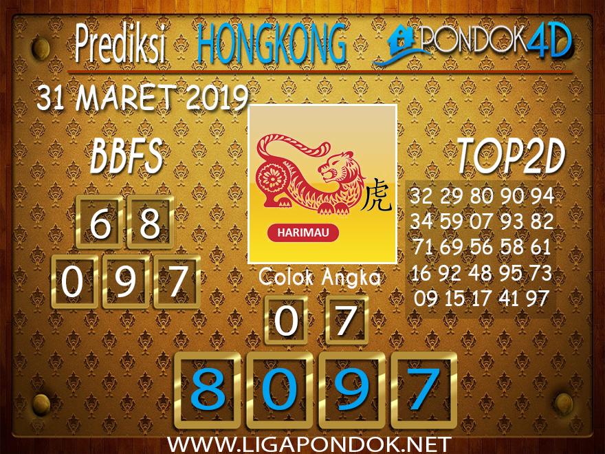 Prediksi Togel HONGKONG PONDOK4D 31 MARET 2019