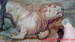 Mosaico com figura de leão ferido - Mosaico de Palestrina