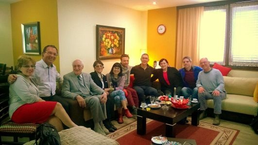 Meeting of two families in Gjon Çiftja's home in Shkodra.