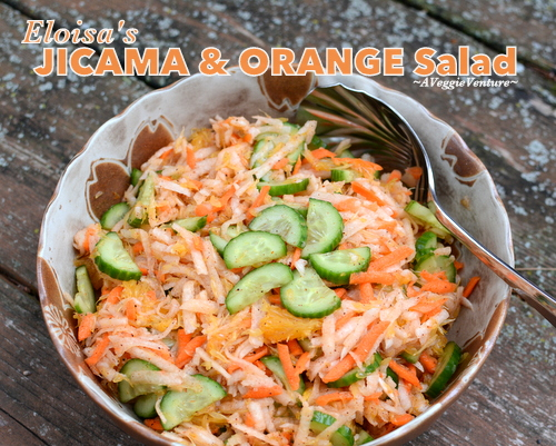 Eloisa's Jicama & Orange Salad, another healthy salad ♥ A Veggie Venture