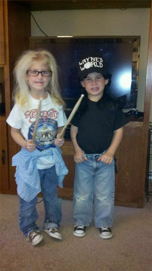 Wayne and Garff Toddlers Halloween Costumes